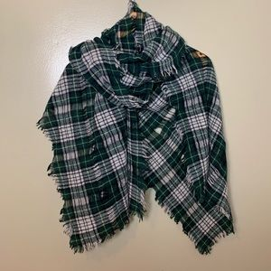 Madewell Wool Nightglen Plaid Scarf